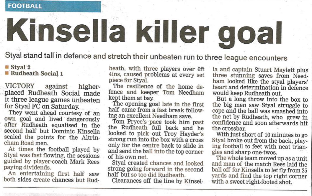 Kinsella Killer Goal