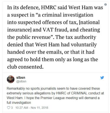 West Hame Face Criminal Charges Over Tax Fraud